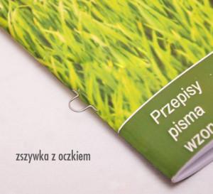 broszury, zszywka z oczkiem